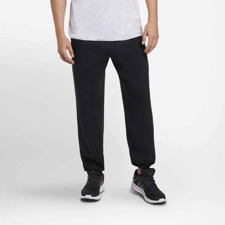 Men's Dri-Power® Closed Bottom Fleece Sweatpants (No Pockets) BLACK