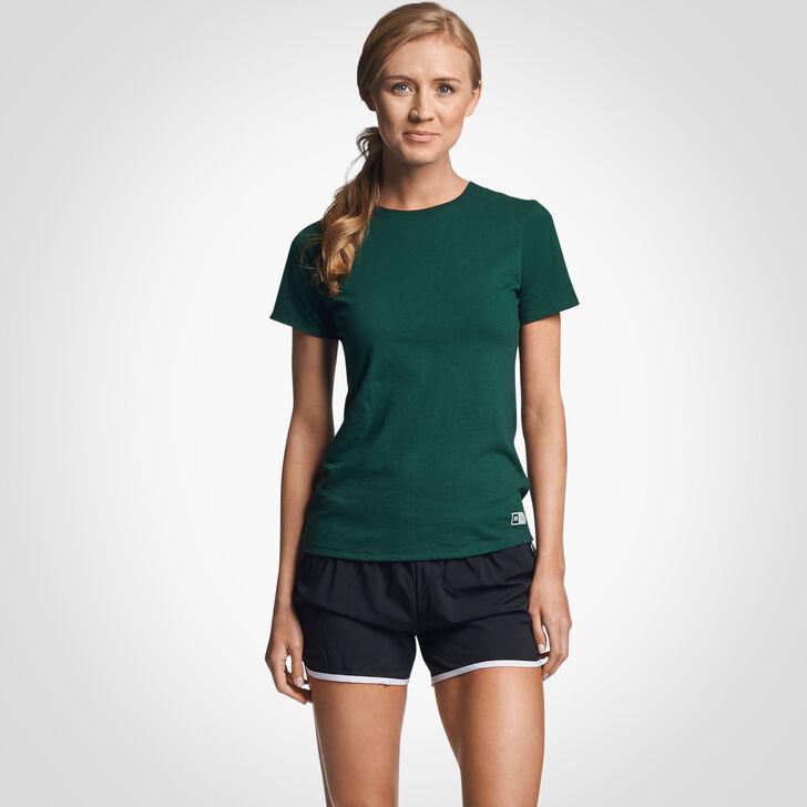 Women's Cotton Performance T-Shirt DARK GREEN