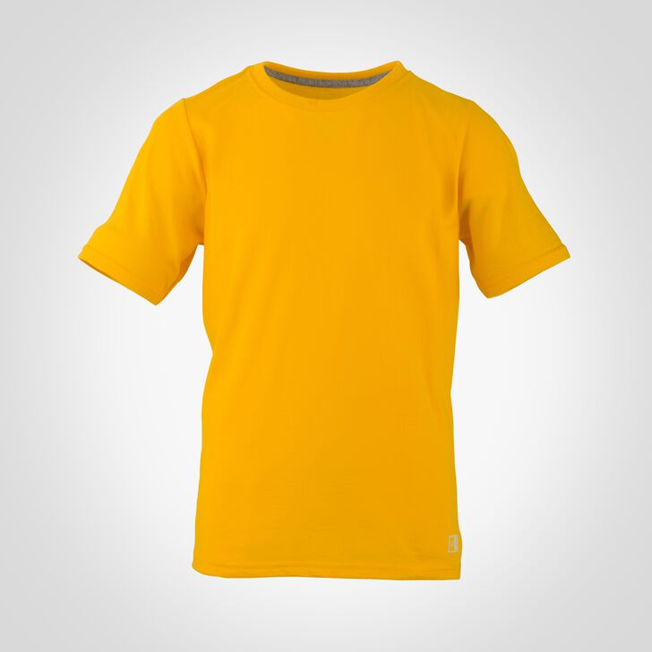Youth Cotton Performance Tee GOLD