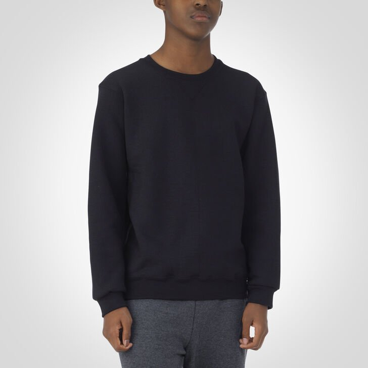 Youth Dri-Power® Fleece Crew Sweatshirt BLACK