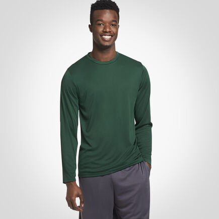 Men's Dri-Power® Performance Long Sleeve T-Shirt DARK GREEN