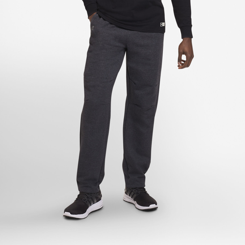 b81b175f3dbf Men s Cotton Rich Open-Bottom Sweatpants with Pockets CHARCOAL GREY HEATHER