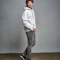 Men's Cotton Rich 2.0 Premium Fleece Hoodie Ash