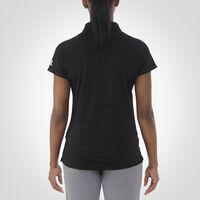 Women's Dri-Power® Striated Polo BLACK