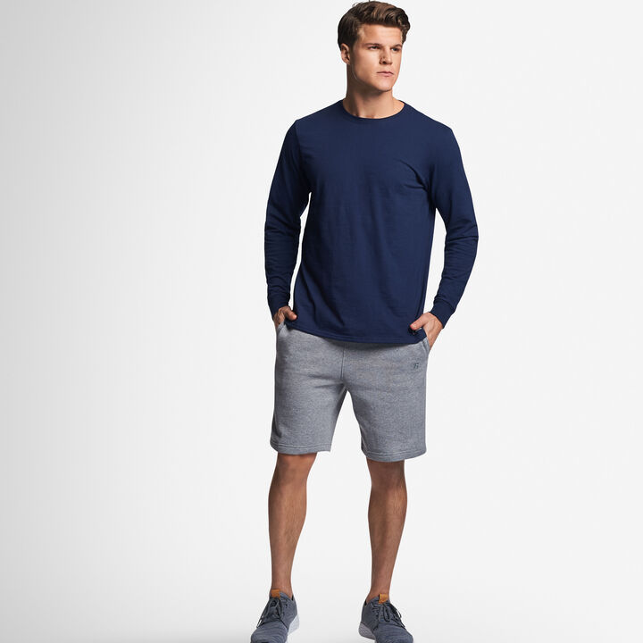 Men's Cotton Performance Long Sleeve T-Shirt NAVY