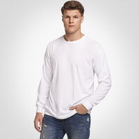 Men's Cotton Performance Long Sleeve Tee WHITE