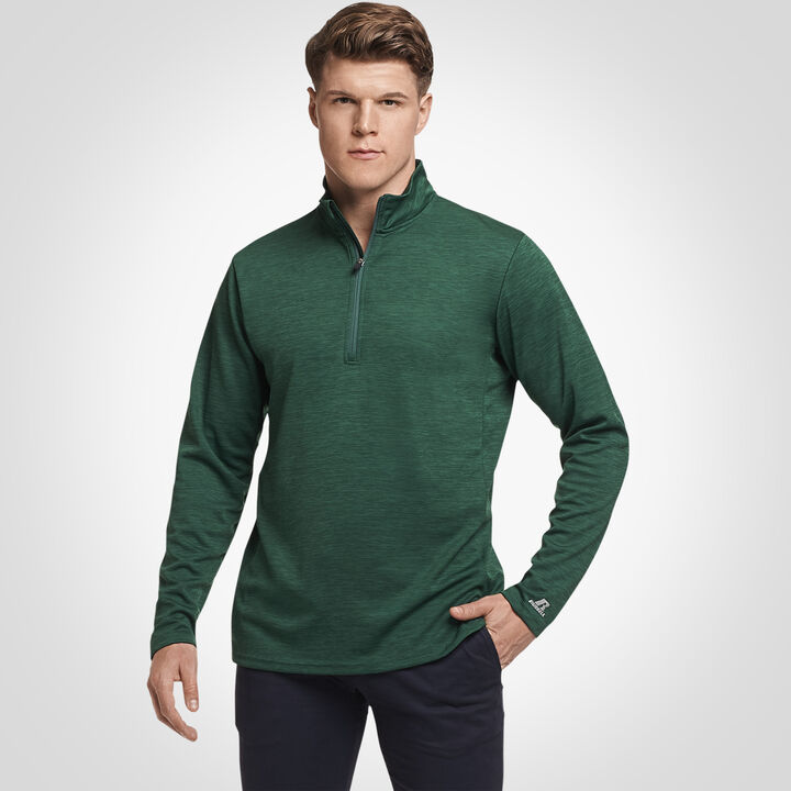 Men's Dri-Power® Lightweight Performance 1/4 Zip DARK GREEN