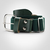Youth Adjustable Baseball/Softball Belt DARK GREEN