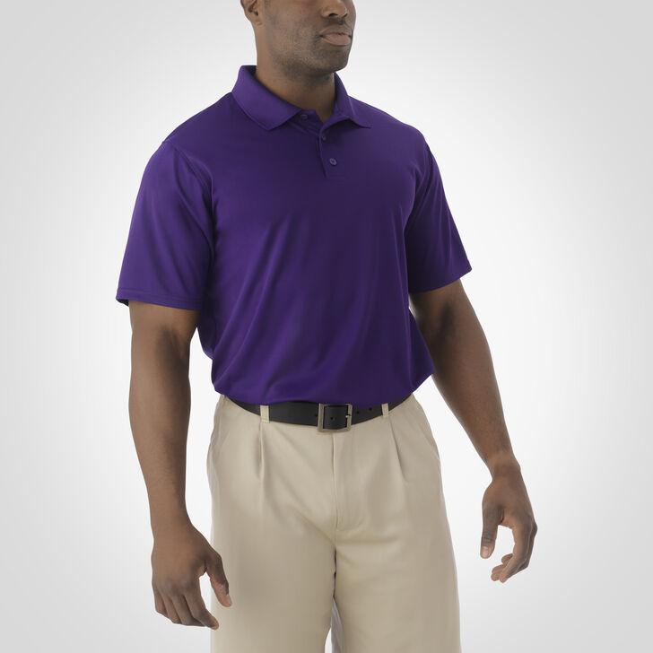 Men's Dri-Power® Essential Short Sleeve Polo PURPLE