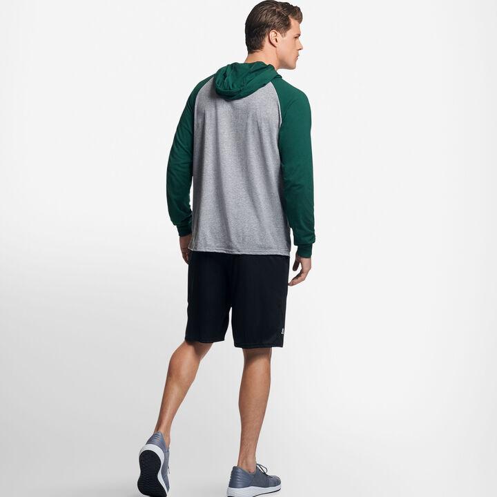 Men's Cotton Performance Lightweight Hoodie OXFORD/DARK GREEN