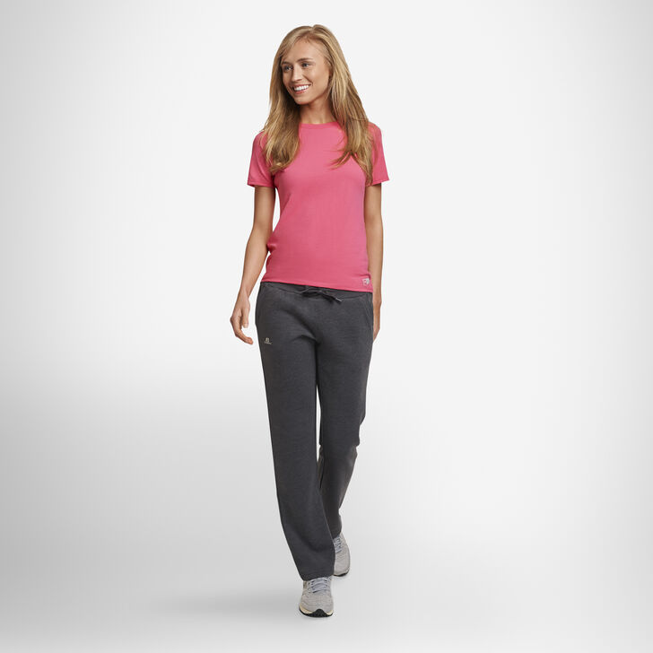 Women's Lightweight Fleece Sweatpants BLACK HEATHER