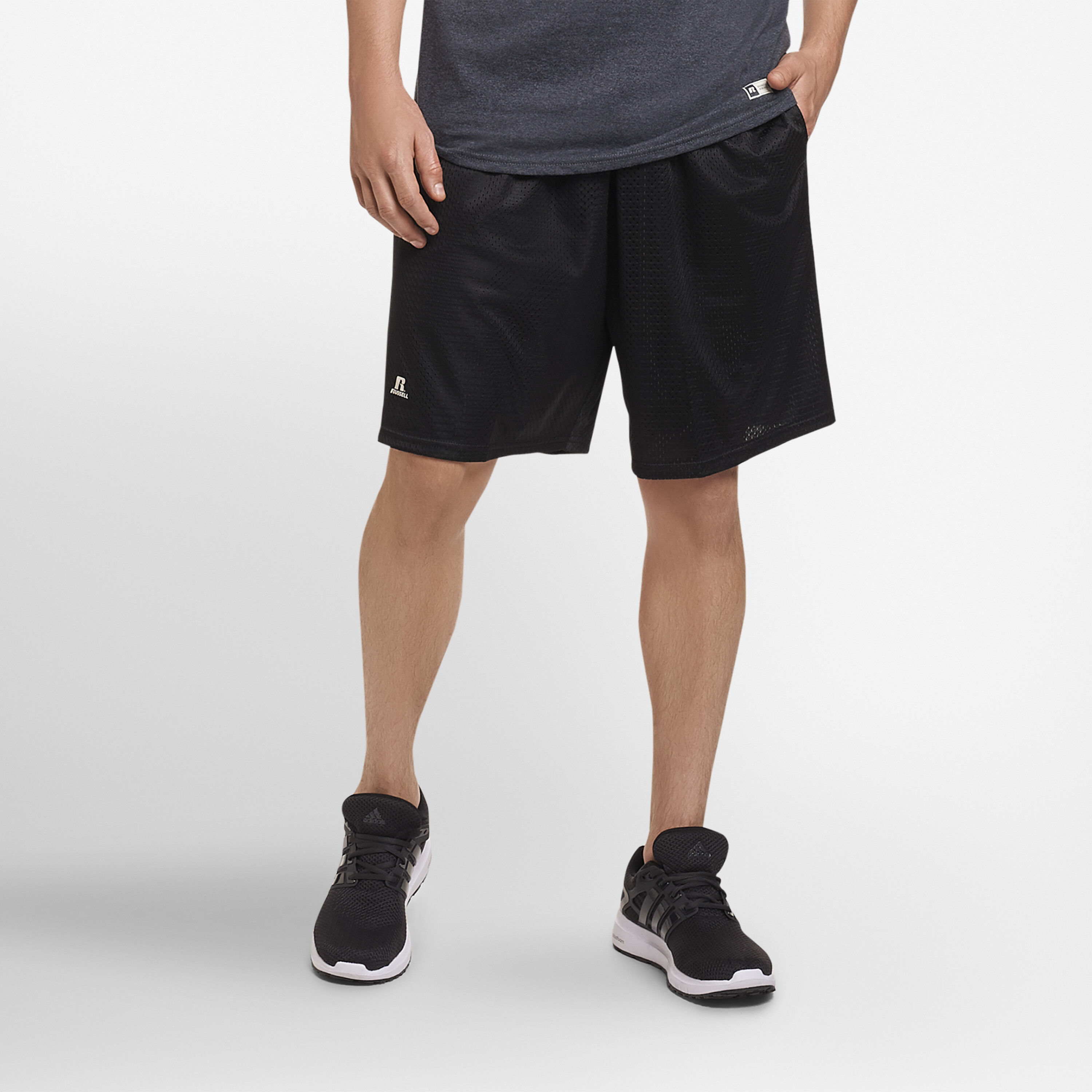 New Boys Small S Russell 100/% Cotton Black Shorts Youth Gym Exercise Running!