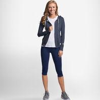 Women's Cotton Performance Lightweight Full Zip Hoodie BLACK HEATHER