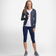 Women's Cotton Performance Lightweight Full Zip Hoodie BLACK HEATHER
