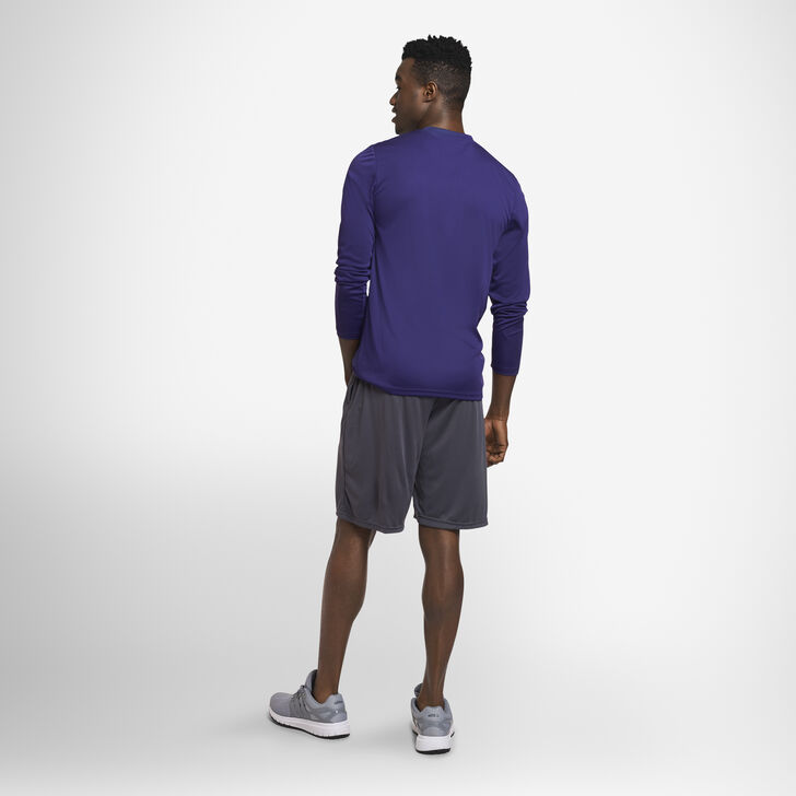 Men's Dri-Power® Performance Long Sleeve T-Shirt PURPLE