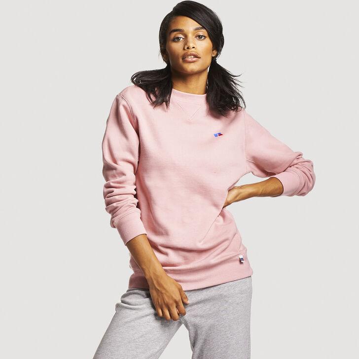 Women's Heritage Oversized Fleece Crew Sweatshirt PINK