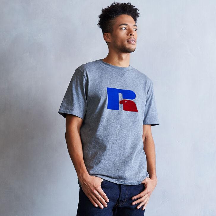 Men's Heritage Flock Graphic T-Shirt HEATHER GRAY