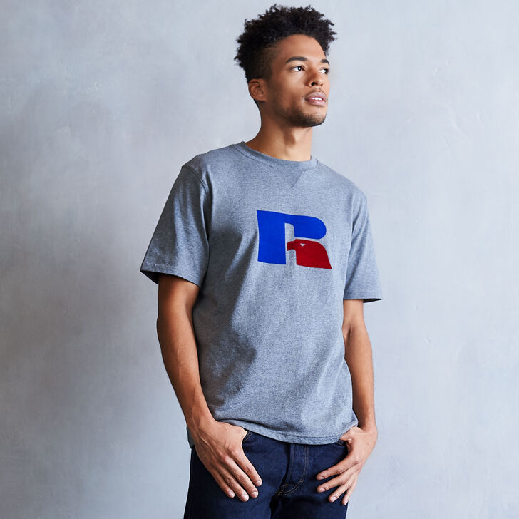 Men's Heritage Flock Graphic T-Shirt HEATHER GRAY