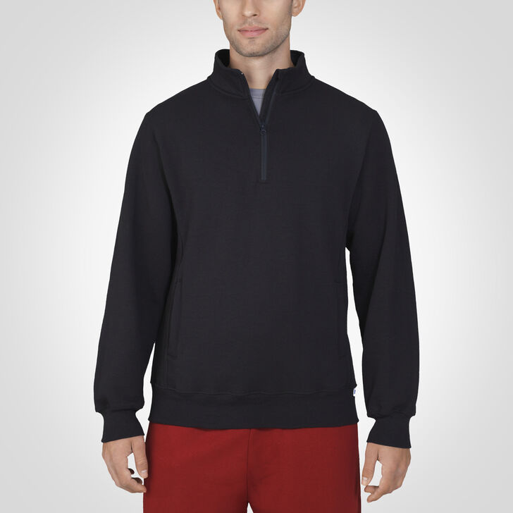 Men's Dri-Power® Fleece 1/4 Zip Pullover BLACK