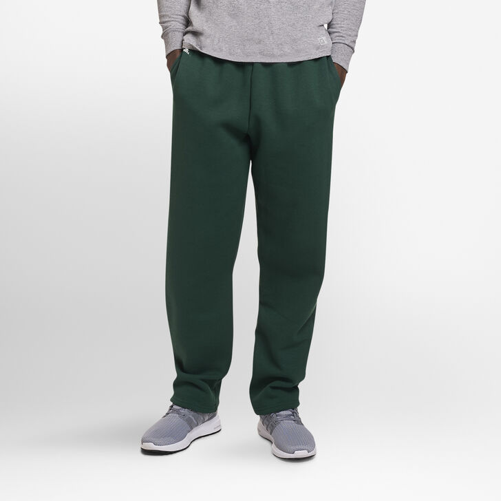 Men's Dri-Power® Open-Bottom Sweatpants with Pockets Dark Green