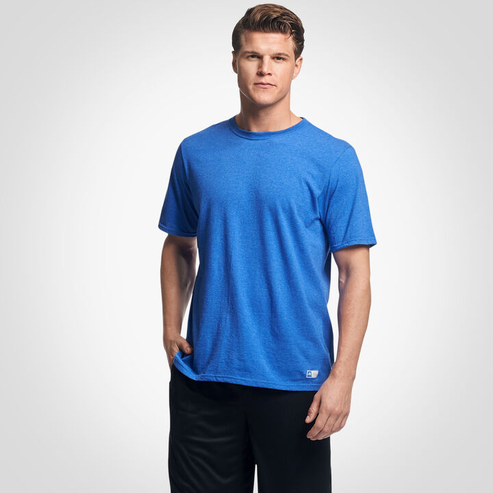 Men's Cotton Performance T-Shirt Retro Heather Royal