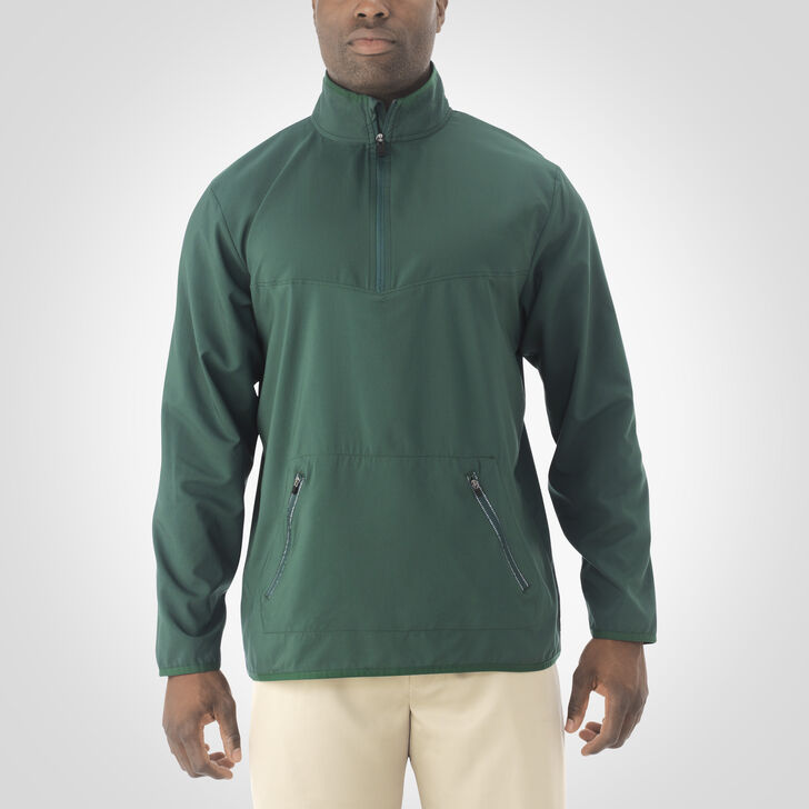 Men's Woven 1/4 Zip Pullover DARK GREEN