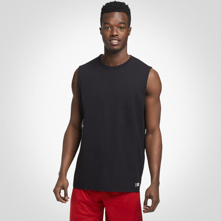 Men's Cotton Performance Muscle Tee BLACK