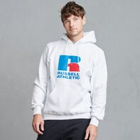 Dri-Power Fleece Logo Hoodie WHITE