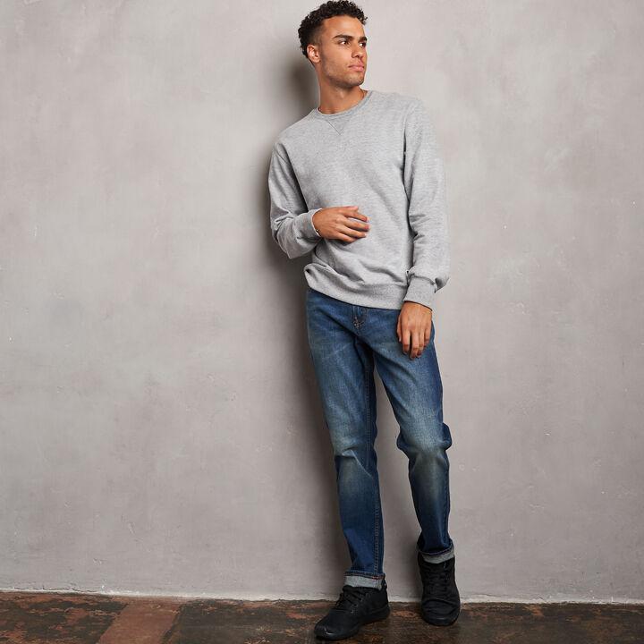 Men's Cotton Classic Fleece Crew Sweatshirt Medium Grey Heather