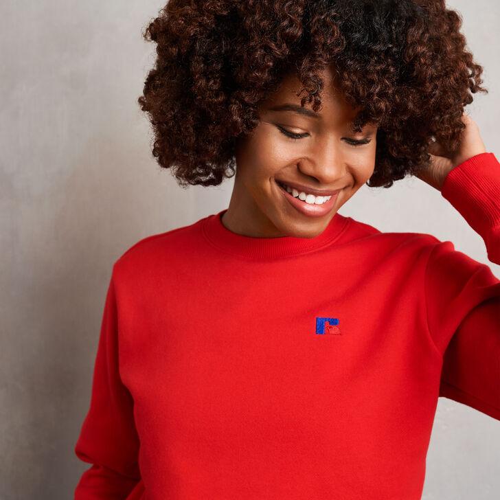 Women's Heritage Fleece Crew Sweatshirt TRUE RED