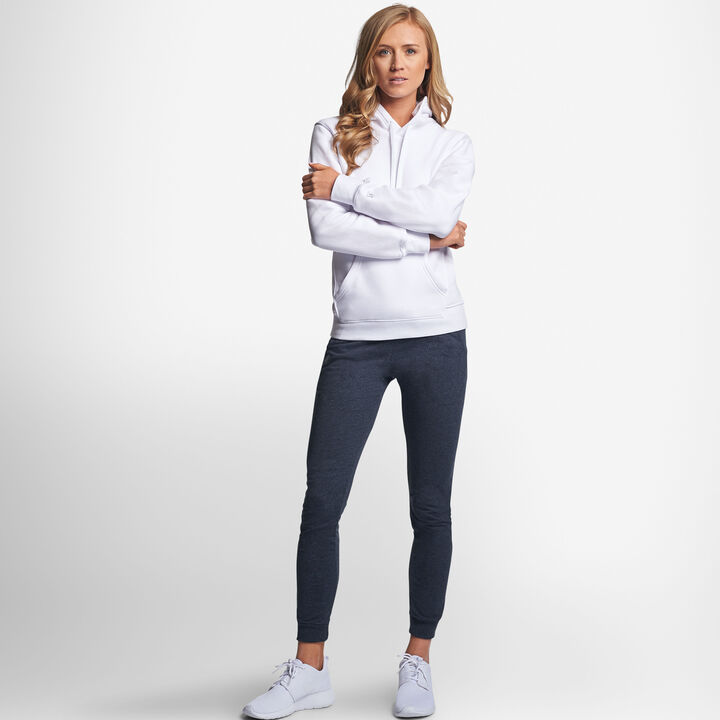 Women's Lightweight Fleece Hoodie WHITE