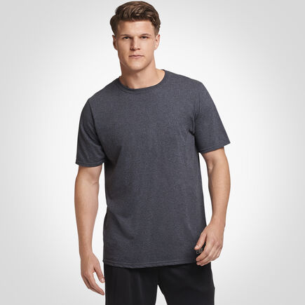 Men's Cotton Performance Tee BLACK HEATHER