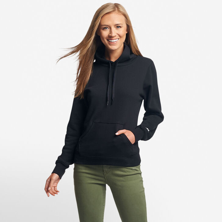 Women's Fleece Hoodie BLACK