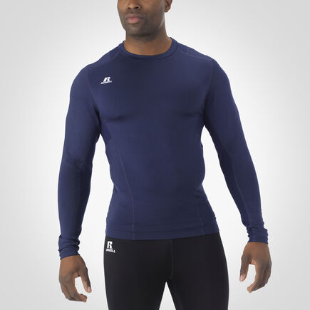 Men's Dri-Power® Tight-Fit Cold Weather Long Sleeve Crew NAVY