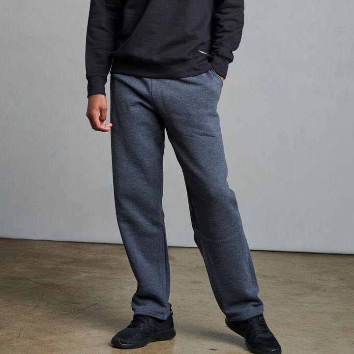 Men's Dri-Power® Open Bottom Fleece Sweatpants Black Heather