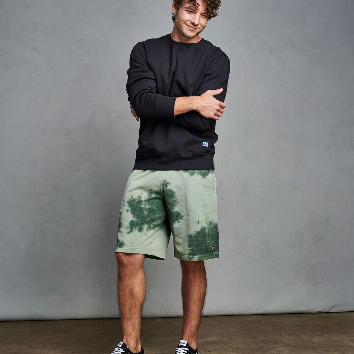Men's Heritage Tie Dye French Terry Fleece Shorts CYPRESS