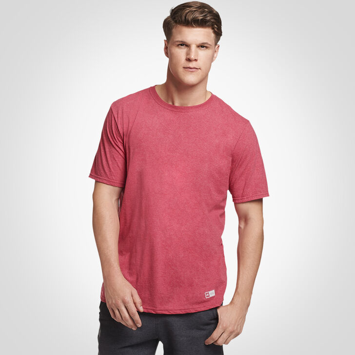 Men's Essential Tee VINTAGE HEATHER RED