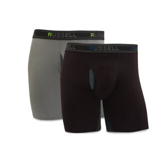 Men's Cotton Performance Boxer Briefs (2 Pack) ASSORTED