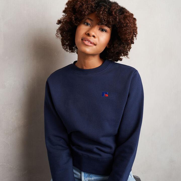 Women's Heritage Fleece Crew Sweatshirt NAVY