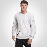 Men's Cotton Rich Fleece Crew Sweatshirt ASH