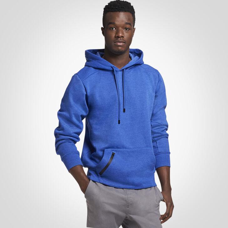 Men's Cotton Rich Fleece Hoodie BLUE HEATHER