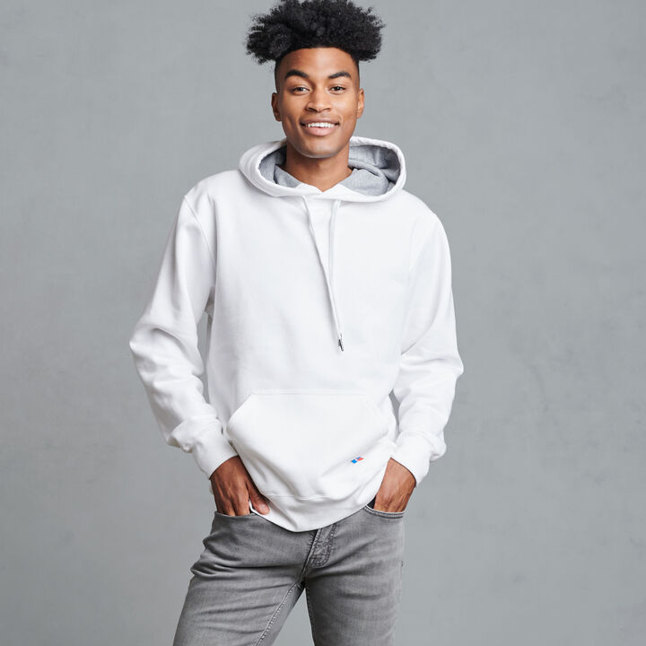 Men's Cotton Rich 2.0 Premium Fleece Hoodie WHITE