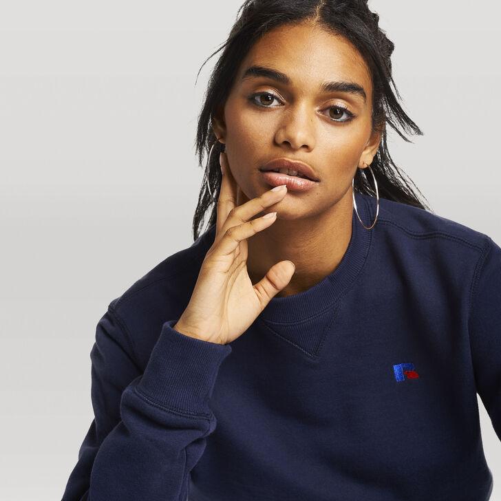 Women's Heritage Oversized Fleece Crew Sweatshirt NAVY
