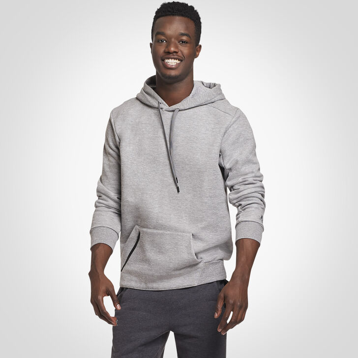 Men's Cotton Rich Fleece Hoodie MEDIUM GREY HEATHER