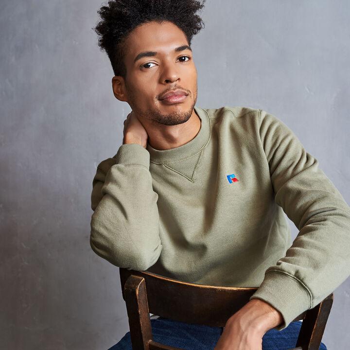 Men's Heritage Fleece Crew Sweatshirt DRY GRASS