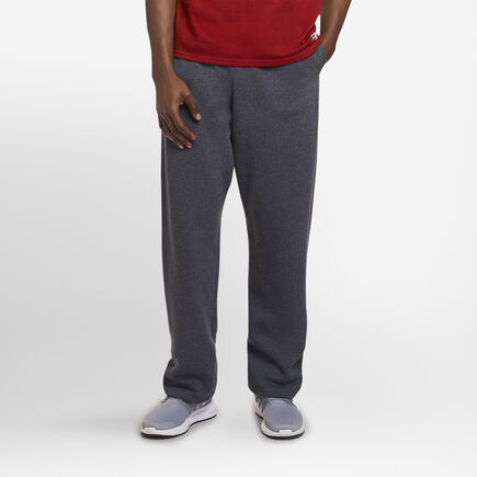 Men's Dri-Power® Open-Bottom Sweatpants with Pockets BLACK HEATHER