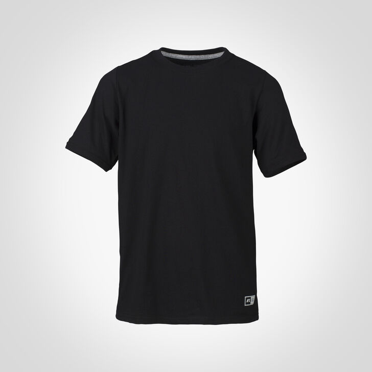 Youth Cotton Performance Tee BLACK