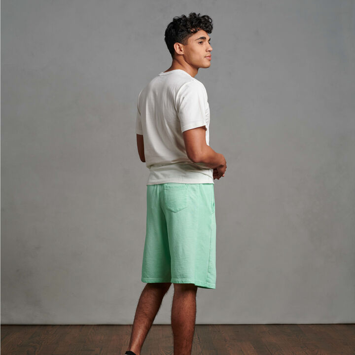 Men's Garment Dyed French Terry Shorts Mint