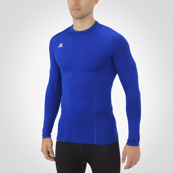Men's Dri-Power® Tight-Fit Cold Weather Long Sleeve Crew ROYAL