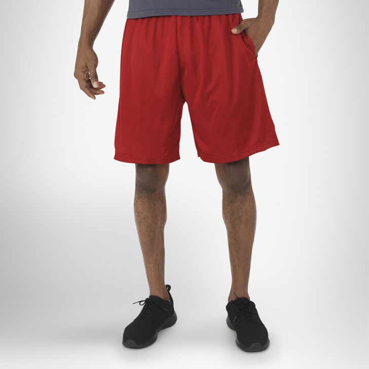 Men's Dri-Power® Mesh Shorts with Pockets CARDINAL